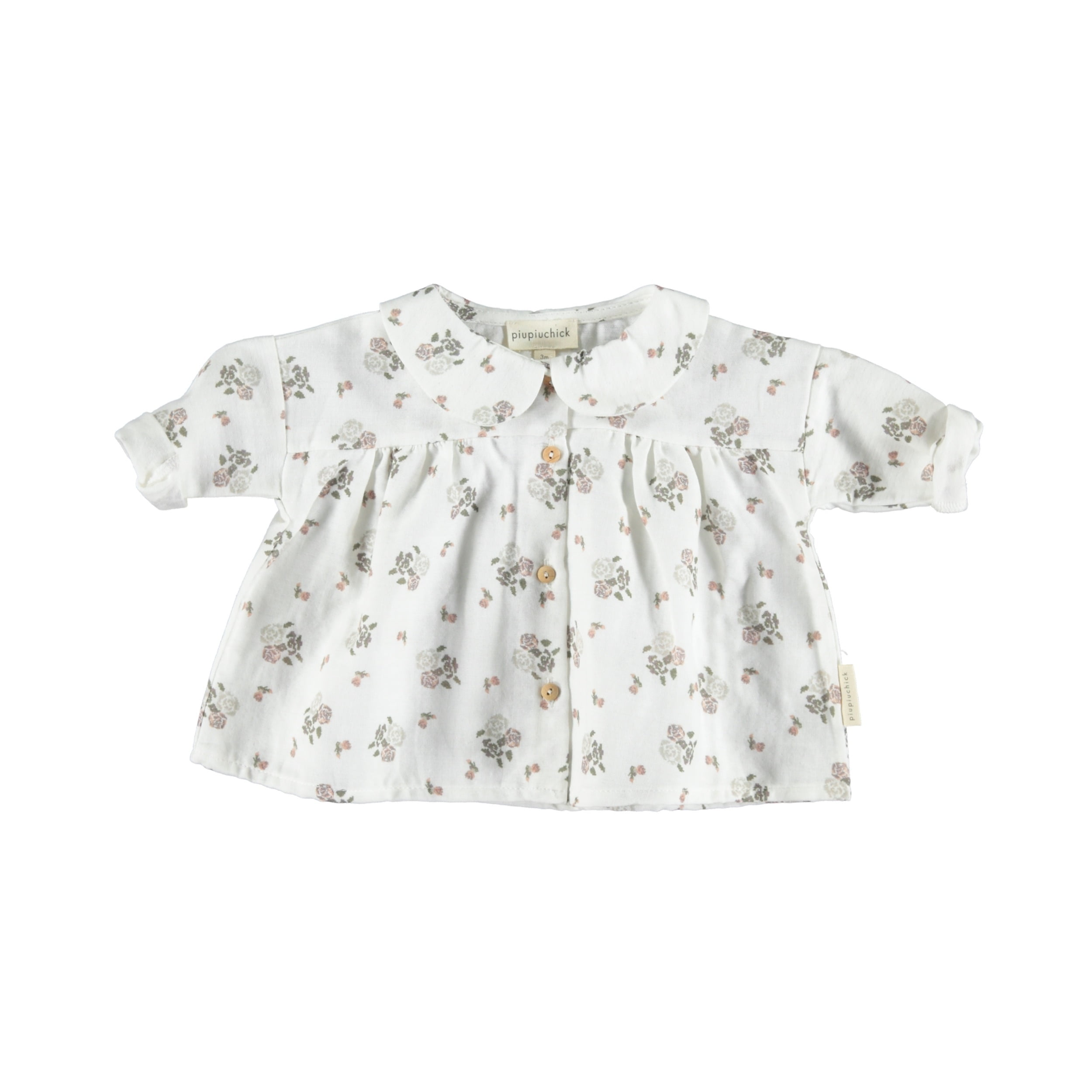 a9b97aac Piupiuchick – Peter pan collar blouse Little flowers – Baby | Miomeraki